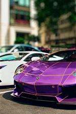 미리보기 iPhone 배경 화면 고급 스러움과 아름다운 람보르기니 Aventador 초차
