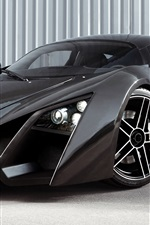 Preview iPhone wallpaper Marussia B2 black supercar