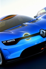 Preview iPhone wallpaper Renault Alpine A110-50 Concept supercar, front view