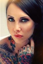 iPhone обои Татуировки девушки