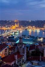 미리보기 iPhone 배경 화면 터키, 이스탄불, 도시의 밤, 주택, 조명
