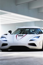 iPhone fondos de pantalla 2013 Koenigsegg Agera R blanco supercar