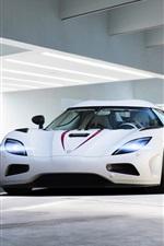 iPhone壁紙のプレビュー 2013ケーニグセグAgera Rホワイトスーパーカー