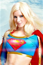 Preview iPhone wallpaper Beautiful superwoman, blonde girl