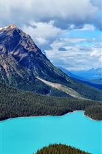 Preview iPhone wallpaper Canada nature scenery, mountain, lake, forest