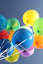 Preview iPhone wallpaper Colorful balloons, sky background