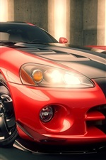 Dodge Viper, 3D rendering supercar