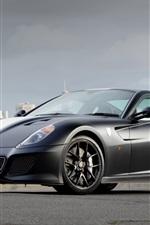 iPhone обои Ferrari 599 GTO серые суперкар