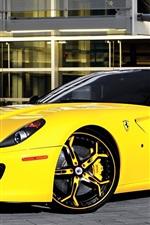 미리보기 iPhone 배경 화면 페라리 599 노란색 초차