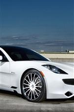 Fisker white car