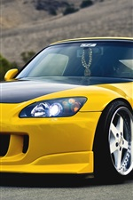 Preview iPhone wallpaper Honda S2000 yellow supercar
