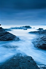 Preview iPhone wallpaper Ireland, Atlantic Ocean, sea, ocean, rocks, blue colors