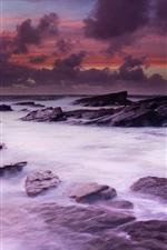 Preview iPhone wallpaper Ireland scenery, west coast, ocean, stones
