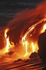 Kilauea fluxo de lava, Hawaii