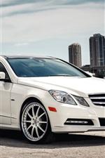 Mercedes-Benz E Class white Coupe