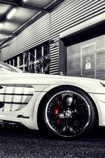 Mercedes-Benz SLR supercar at night