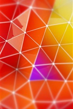 Preview iPhone wallpaper Render abstract triangle colors