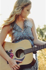 Preview iPhone wallpaper Summer, music, guitar girl