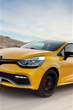 Preview iPhone wallpaper 2013 Renault Clio RS 200 yellow car