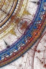 Preview iPhone wallpaper Abstract artwork circles, digital art, creative design