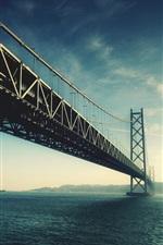 Preview iPhone wallpaper Akashi Kaikyo bridge in Japan