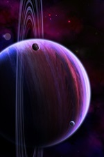 Preview iPhone wallpaper Art pictures, space, planets, stars