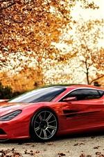iPhone обои Aston Martin DBC суперкар осенью
