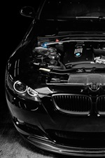 Preview iPhone wallpaper BMW M3 black car, engine tuning