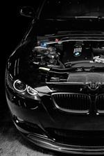 미리보기 iPhone 배경 화면 BMW M3 검은 자동차, 엔진 튜닝