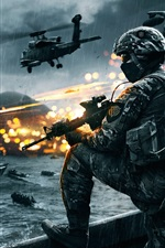 Preview iPhone wallpaper Battlefield army game HD