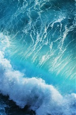 Preview iPhone wallpaper Beautiful blue sea waves