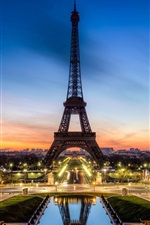 Preview iPhone wallpaper Beautiful night view of Eiffel Tower