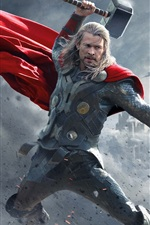 Preview iPhone wallpaper Chris Hemsworth in Thor: The Dark World 2013
