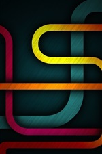 Preview iPhone wallpaper Colorful abstract road shapes