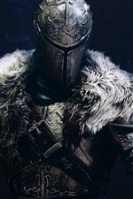 Preview iPhone wallpaper Dark Souls 2, warrior, black background
