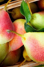 Preview iPhone wallpaper Delicious fruit, pears, red and green