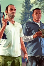 Preview iPhone wallpaper Grand Theft Auto V HD