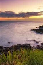 Preview iPhone wallpaper Hawaii, sunset, ocean, nature coast scenery