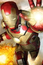 Preview iPhone wallpaper Iron Man 3, different armor