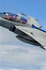 Preview iPhone wallpaper JAS 39 Gripen multi-purpose fighter