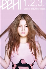 Preview iPhone wallpaper Korean music girl, LEE HI 01