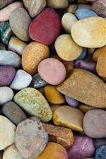 Many stones, colorful pebbles
