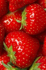 Preview iPhone wallpaper Many strawberries, red, fruit, delicious