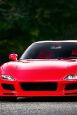 Mazda RX-7 FD red supercar front view