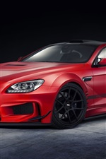 Red BMW M6 car design