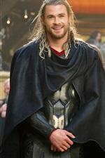 Preview iPhone wallpaper Thor: The Dark World, joyful smile