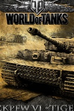 Preview iPhone wallpaper World of Tanks, heavy tank, German Tiger Tank