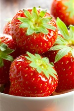 Preview iPhone wallpaper A bowl strawberries, fresh, red