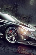 Art design black supercar