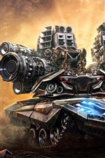 Preview iPhone wallpaper Art pictures, tanks, guns, soldiers